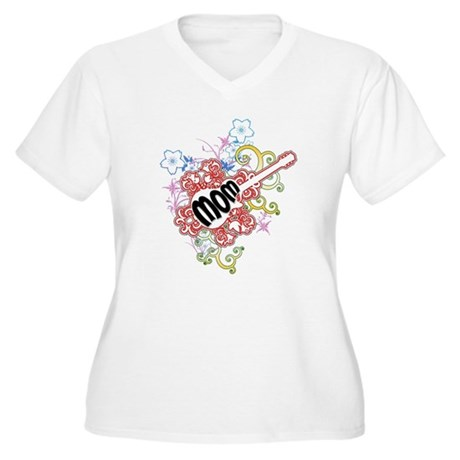 Mom Rocks Women's Plus Size V-Neck T-Shirt
