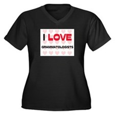 I LOVE GRAMMATOLOGISTS Women's Plus Size V-Neck Da