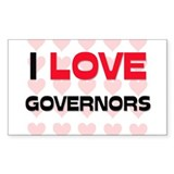 I LOVE GOVERNORS Rectangle Decal