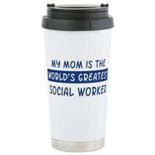 Social Worker Mom Ceramic Travel Mug