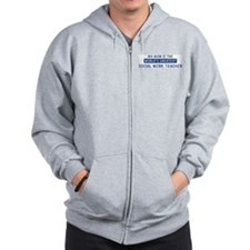 Social Work Teacher Mom Zip Hoodie