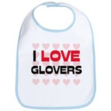 I LOVE GLOVERS Bib