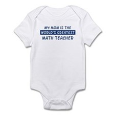 Math Teacher Mom Infant Bodysuit