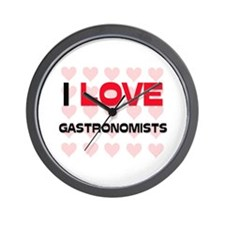I LOVE GASTRONOMISTS Wall Clock