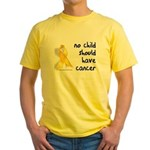 No child cancer Yellow T-Shirt