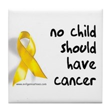 No child cancer Tile Coaster
