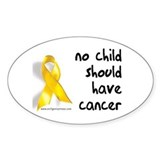 No child cancer Oval Decal