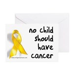 No child cancer Greeting Cards (Pk of 10)