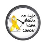 No child cancer Wall Clock