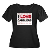 I LOVE GARBLERS Women's Plus Size Scoop Neck Dark