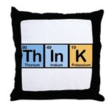 Think Made of Elements Throw Pillow