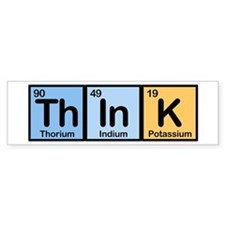 Think Made of Elements Bumper Bumper Sticker