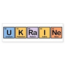 Ukraine Made of Elements Bumper Bumper Sticker
