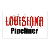 Louisiana Pipeliner 3 Rectangle Decal