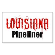 Louisiana Pipeliner 3 Rectangle Decal