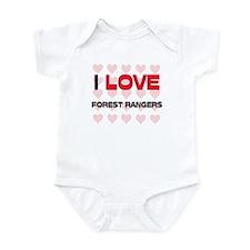 I LOVE FOREST RANGERS Infant Bodysuit