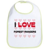 I LOVE FOREST RANGERS Bib