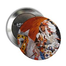 "Cute Native american 2.25"" Button (100 pack)"