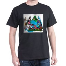 Tepee Clean Peaks on T-Shirt
