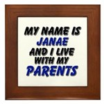 my name is janae and I live with my parents Framed