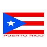 Puerto Rican Flag (labeled) Postcards (Package of