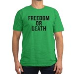 Freedom Or Death Men's Fitted T-Shirt (dark)