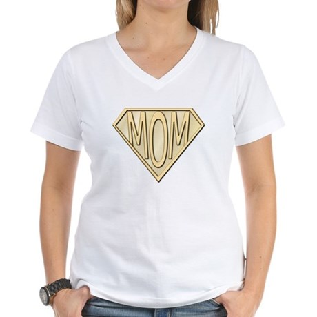 Super Mom Women's V-Neck T-Shirt
