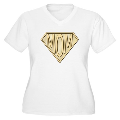 Super Mom Women's Plus Size V-Neck T-Shirt