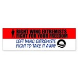 Right Wing Extremists Fight Bumper  Bumper Sticker