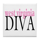 West Virginia Diva Tile Coaster