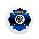 "Fire Chief Gold Maltese Cross 3.5"" Button (10"