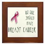 No one breast cancer Framed Tile