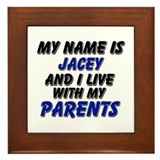 my name is jacey and I live with my parents Framed