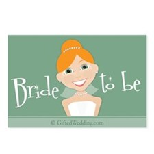 Bride To Be (rh) Postcards (Package of 8)