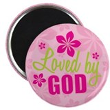 "Loved By God 2.25"" Magnet (10 pack)"