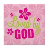 Loved By God Tile Coaster