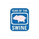 Year of the Swine Rectangle Sticker 10 pk)