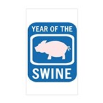 Year of the Swine Rectangle Sticker