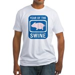 Year of the Swine Fitted T-Shirt