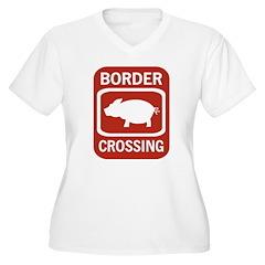 Border Crossing Women's Plus Size V-Neck T-Shirt