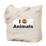 I eat Animals Tote Bag