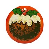 Christmas Pudding Keepsake Ceramic Ornament