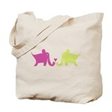 Elephants Tote Bag - lil omm logo on back