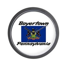 Boyertown Pennsylvania Wall Clock