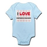 I LOVE EMERGENCY MANAGERS Infant Bodysuit