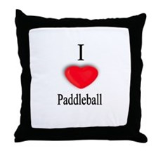 Paddleball Throw Pillow