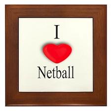 Netball Framed Tile