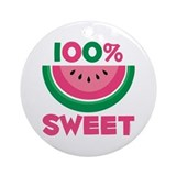 100% Sweet Watermelon Ornament (Round)