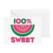 100% Sweet Watermelon Greeting Card