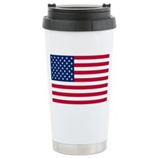 American Flag Ceramic Travel Mug